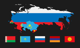 Eurasian Economic Union 4 Royalty Free Stock Images