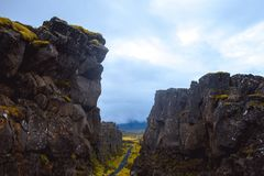 Eurasian and North American tectonic plates. Stock Images
