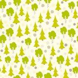 Eurasian tree seamless pattern.  Royalty Free Stock Images