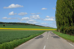 Eure, a country road in Gasny Stock Photos