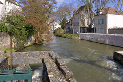 Eure river at Chartres in France Stock Photo