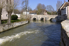Eure river at Chartres in France Royalty Free Stock Images
