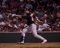 Eurebiel Durazo, jogador de campo de Oakland a Fotografia de Stock Royalty Free