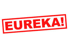 ¡Eureka! stock de ilustración