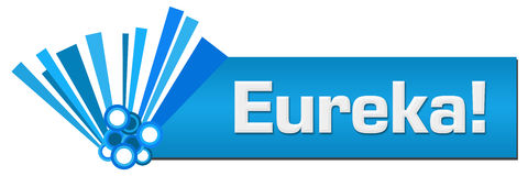 Eureka Blue Graphical Horizontal Royalty Free Stock Photos