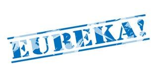 Eureka blue stamp Royalty Free Stock Photo