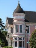 EUREKA CA, LIPIEC, - 23, 2017: Różowa dama, historyczny wiktoriański dom, jest popularnym turystycznym miejscem przeznaczenia Obrazy Stock