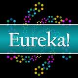 Eureka Dark Colorful Neon Square Horizontal Royalty Free Stock Image