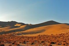 The Eureka in desert on sunrise Royalty Free Stock Images