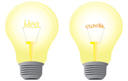 """'Eureka! Eureka!' I have an Idea. Light bulb is a sting metaphor for new idea .. and """"eureka"""" is a Strong verbal expression for finding and idea. So here are Stock Images"""