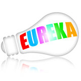 Eureka, genius idea. Concept with electric lightbulb Stock Photography