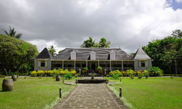 Eureka Mansion in Moka, Mauritius. Frontal view of Ancient Eureka Mansion in Moka, Mauritius. The House is a unique Creole house built in 1830 located by the Stock Photography
