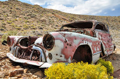 The Eureka Mine. Old rusted car at Eureka Mine in Death Valley National Park, USA Royalty Free Stock Photo