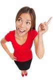 Vrouw met helder idee of geestelijke doorbraak Stock Fotografie