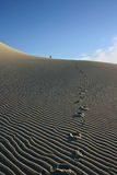 Eureka Sand Dunes. Footprints Eureka Sand Dunes Royalty Free Stock Images