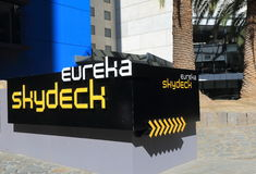 Eureka Skydeck Melbourne Australia. Popular tourist attraction, Eureka Tower Skydeck entrance in Melbourne Royalty Free Stock Photos
