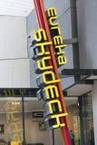 Eureka Skydeck sign. Melbourne, Australia - Feb 12, 2016: Eureka Skydeck sign outside the Eureka Tower in Melbourne. Eureka Skydeck is an observation deck and a Stock Images