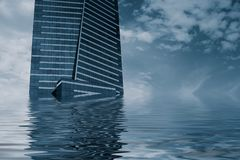 Eureka Tower Flood Stock Images