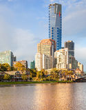 The Eureka Tower in Melbourne royalty free stock image
