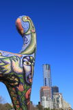 Eureka Tower and modern art Royalty Free Stock Photography
