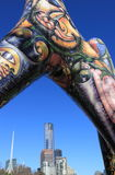 Eureka Tower and modern art Melbourne Stock Photo