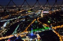 Eureka Tower Observation Deck (Eureka Skydeck 88) - Melbourne. MELBOURNE - APR 13 2014:Visitors at Eureka Tower observation deck (Eureka Skydeck 88), the highest Royalty Free Stock Image
