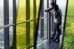 Eureka Tower Observation Deck (Eureka Skydeck 88) - Melbourne. MELBOURNE - APR 13 2014:Visitors at Eureka Tower observation deck (Eureka Skydeck 88), the highest Stock Image