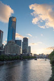 Eureka Tower and Yarra River Royalty Free Stock Photos