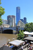 Eureka Tower Yarra river Melbourne Royalty Free Stock Photos