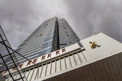 Eureka-Turm in Melbourne, Skydeck-Zeichen stockfotos