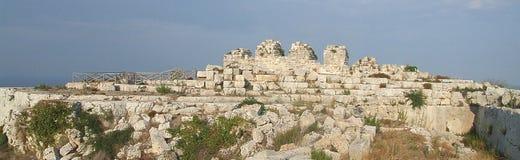 Eurialo城堡废墟 库存图片