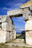 Eurialo griechisches Schloss, Tür Stockfotografie