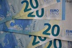EURO 20 ÅR BLAND FACKLIGA LÄNDER FÖR EUROEPAN royaltyfria bilder