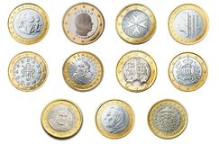 Euro, 1, Coin, Currency, Europe Stock Image