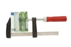 Euro 1 de la presión Imagen de archivo libre de regalías