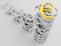 Euro 1 van het teken Stock Foto