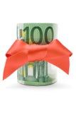 euro 100 prezent Zdjęcie Stock