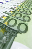 euro 100 rachunków Obraz Royalty Free