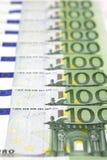 euro 100 rachunków Zdjęcia Royalty Free
