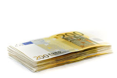 Euro 10000 auf einem Haufen Stockfotos