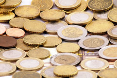 Euro. United Europe 1 euro coins Stock Photography