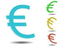 Euro. 3d vector euro finance logo Royalty Free Stock Photo