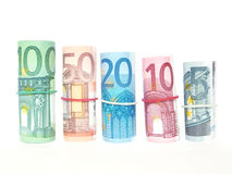 Euro. Banknotes on a white background Royalty Free Stock Photography
