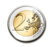 Euro, 2, Coin, Currency, Europe Royalty Free Stock Image