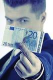 Euro 20 in der Hand Lizenzfreies Stockfoto