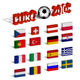 Euro 2008. 3d flags and the sign Stock Images