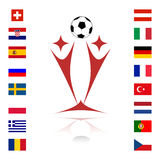 Euro 2008. Championship of soccer in Austria and Switzerland Stock Photos