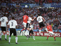 Euro 2008, Austria and Germany. UEFA Euro 2008 Germany versus Austria match in Vienna. Austria 16.6.2008, 8:30pm CET,Ernst Happel Stadion, Vienna - Group B Royalty Free Stock Photography