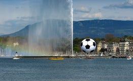 Euro 2008 Ball Geneva Royalty Free Stock Images