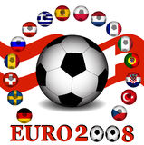 Euro 2008 championship. Of soccer in Austria and Switzerland Stock Image